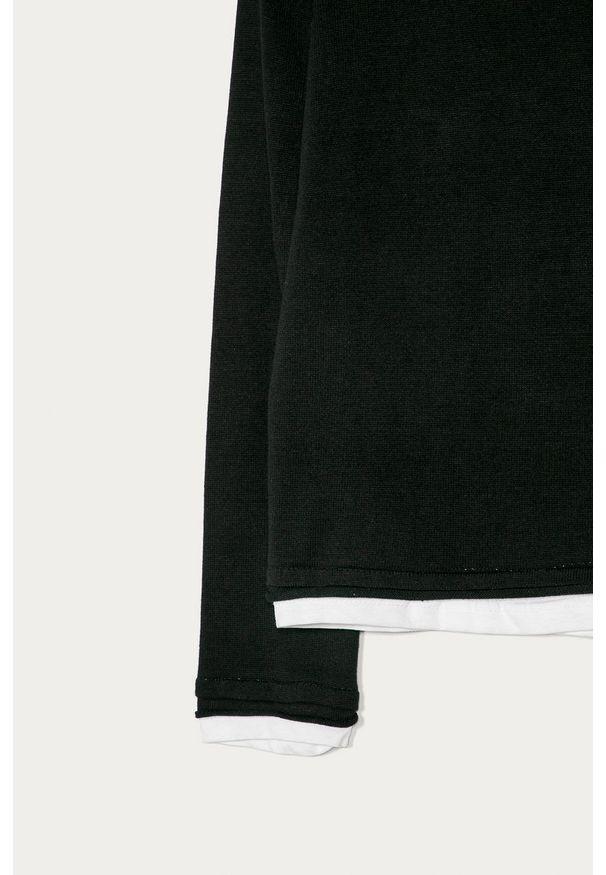 Czarny sweter Guess Jeans casualowy, na co dzień