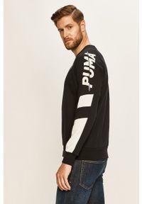 Czarna bluza nierozpinana Puma raglanowy rękaw, casualowa, bez kaptura, na co dzień