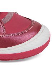 Różowe półbuty Lasocki Kids na spacer, z cholewką, na rzepy