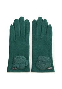Zielone rękawiczki Wittchen