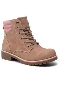 Nelli Blu - Trapery NELLI BLU - CS722-60 Pink. Okazja: na spacer. Kolor: różowy. Materiał: skóra, materiał. Szerokość cholewki: normalna. Sezon: zima