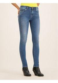 Diesel Jeansy 00SXJN084NM Granatowy Slim Fit. Kolor: niebieski. Materiał: jeans