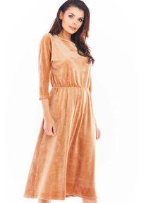 Beżowa sukienka Awama midi