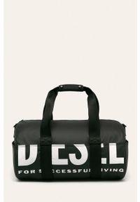 Czarna torba Diesel z nadrukiem