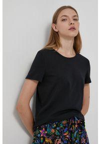 medicine - Medicine - T-shirt Basic. Okazja: na co dzień. Kolor: czarny. Materiał: bawełna, dzianina. Wzór: gładki. Styl: casual