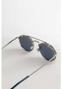 Szare okulary przeciwsłoneczne Mango Man okrągłe