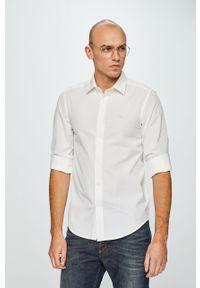 Biała koszula Diesel z klasycznym kołnierzykiem, na co dzień, klasyczna, długa