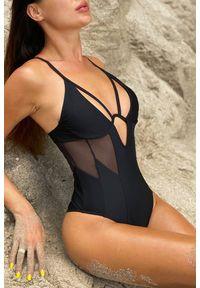 Czarny strój kąpielowy IVET z aplikacjami