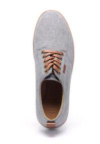 GOE - Buty. Nosek buta: okrągły. Zapięcie: sznurówki. Kolor: szary. Materiał: skóra