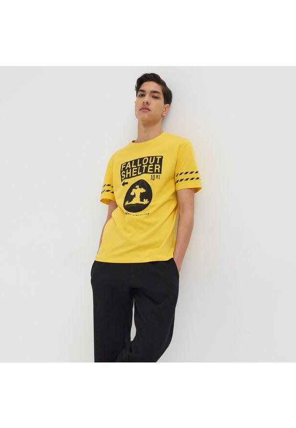 Sinsay - Koszulka Tom i Jerry ECO AWARE - Żółty. Kolor: żółty