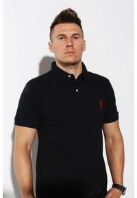 Czarna koszulka polo Edward Orlovski klasyczna, polo