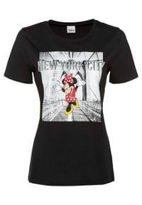 """Shirt oversize """"Myszka Miki"""" bonprix czarny. Kolor: czarny"""