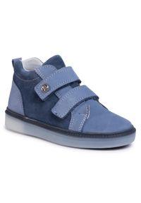 RenBut - Trzewiki RENBUT - 23-3356 Jeans Led. Kolor: niebieski. Materiał: skóra, nubuk, zamsz. Szerokość cholewki: normalna. Sezon: zima