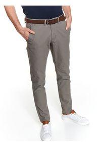 Szare spodnie TOP SECRET casualowe, na wiosnę, w kolorowe wzory