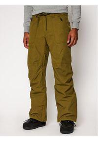 Zielone spodnie sportowe Quiksilver narciarskie