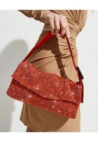 BENEDETTA BRUZZICHES - Pomarańczowa torebka La Monique Large. Kolor: pomarańczowy. Wzór: aplikacja. Styl: wizytowy, elegancki. Rodzaj torebki: do ręki
