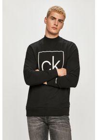 Czarna bluza nierozpinana Calvin Klein z nadrukiem, na co dzień