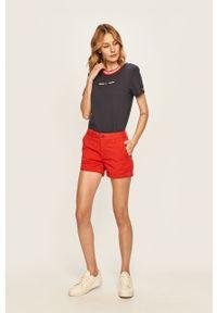 Czerwone szorty Pepe Jeans casualowe, na co dzień
