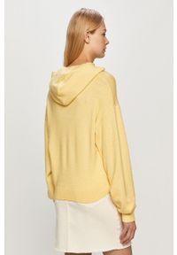 Jacqueline de Yong - Sweter. Okazja: na co dzień. Typ kołnierza: kaptur. Kolor: żółty. Materiał: dzianina. Styl: casual