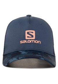 Niebieska czapka z daszkiem salomon