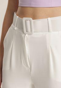 Renee - Białe Spodnie Cygaretki Daphyxio. Kolor: biały