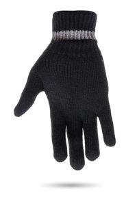 Czarne rękawiczki Ice Play w kolorowe wzory