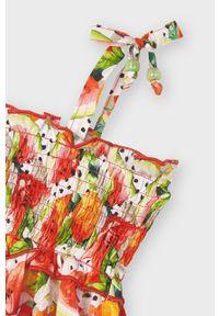 Czerwona sukienka Mayoral na ramiączkach, rozkloszowana