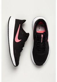 Czarne buty sportowe Nike Kids na sznurówki, Nike Revolution, z cholewką