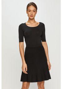Czarna sukienka Hugo na co dzień, mini, casualowa