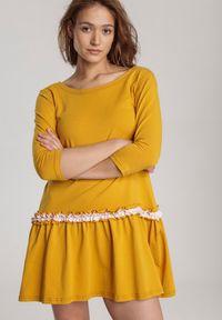 Renee - Żółta Sukienka Palathyia. Kolor: żółty