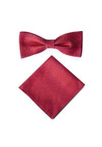 Czerwona muszka Giacomo Conti w kolorowe wzory, elegancka