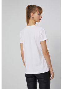 medicine - Medicine - T-shirt Basic. Kolor: biały. Materiał: bawełna, dzianina. Wzór: gładki
