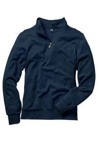 Bluza ze stójką bonprix granatowy. Okazja: na co dzień. Typ kołnierza: kołnierzyk stójkowy. Kolor: niebieski. Styl: casual