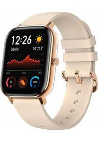 AMAZFIT - Smartwatch Amazfit GTS Beżowy (A1914DESERTGOLD). Rodzaj zegarka: smartwatch. Kolor: beżowy