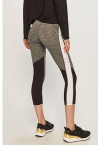 Szare legginsy DKNY gładkie