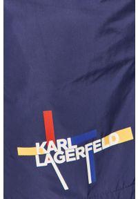 Niebieskie kąpielówki Karl Lagerfeld z nadrukiem