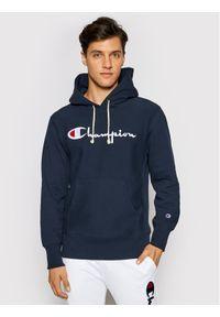 Champion Bluza Script Logo 215159 Granatowy Custom Fit. Kolor: niebieski