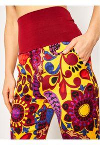 Spodnie materiałowe Manila Grace w kolorowe wzory