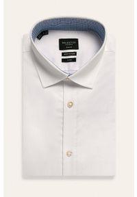 Biała koszula Selected długa, z klasycznym kołnierzykiem