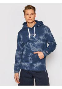 Champion Bluza Tie Dye 216160 Granatowy Comfort Fit. Kolor: niebieski