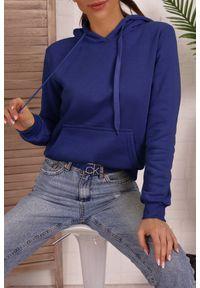 Niebieska bluza IVET na co dzień, z kapturem