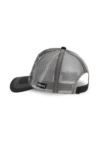 Szara czapka z daszkiem CapsLab z aplikacjami