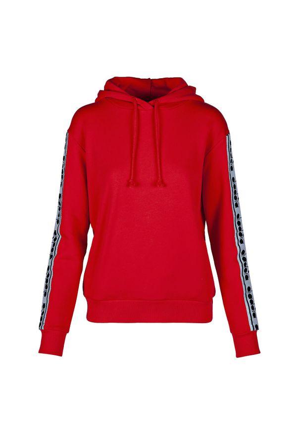 Bluza damska Diadora L. Hoodie Trofeo 502.175816. Typ kołnierza: kaptur. Materiał: bawełna