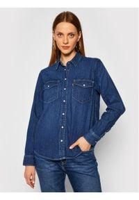 Levi's® Koszula jeansowa Essential Western 16786-0007 Granatowy Regular Fit. Kolor: niebieski. Materiał: jeans