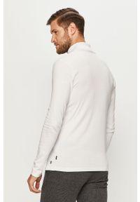 Biała koszulka z długim rękawem Premium by Jack&Jones casualowa, na co dzień