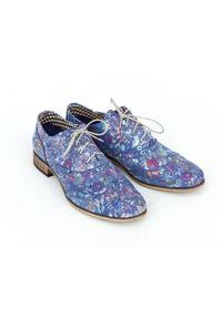 Niebieskie półbuty Zapato casualowe, z cholewką