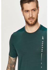 T-shirt Reebok na co dzień, casualowy, z nadrukiem