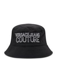 Czarny kapelusz Versace Jeans Couture