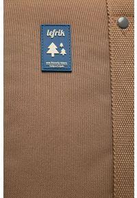 Lefrik - Plecak. Kolor: brązowy. Wzór: paski
