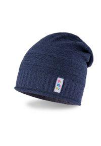 Wiosenna czapka dziewczęca PaMaMi - Ciemnoniebieski. Kolor: niebieski. Materiał: bawełna, elastan. Sezon: wiosna #1